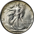 Walking Liberty Half Dollars, 1946 50C MS65 NGC. Small areas of scattered toning appear primarilyat the outer edges of this lustrous Gem. The coin exhib...