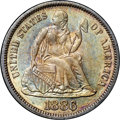 Seated Dimes, 1886 10C MS62 NGC. CAC....