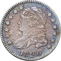 "Bust Dimes, 1820 10C Small 0 -- Environmental Damage -- NGC Details. XF. JR-2,R.3. Ex: ""Col."" E.H.R. Green. Moderately granular surfac..."