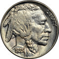 """Buffalo Nickels, 1935 5C MS66 NGC. CAC. Ex: """"Col."""" E.H.R. Green. The obverse isgenerally light yellow, while the reverse is split between a..."""