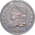 "Bust Half Dimes, 1832 H10C AU55 NGC. V-13, LM-10.1, R.3. Ex: ""Col."" E.H.R. Green.Deep blue-violet toning overall with lighter rose-gray at ..."