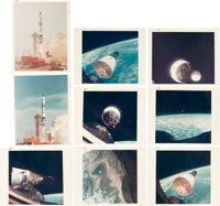 """Gemini 6A & Gemini 7 Collection of Twenty Original NASA Color Glossy Photos Including Seventeen with """"Red Numbe..."""