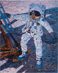 "Explorers:Space Exploration, Alan Bean's ""A Giant Leap"" Signed Limited Edition Giclée Canvas,Artist Proof #31/35...."