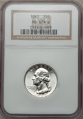 Washington Quarters, 1960 25C MS67 White ★ NGC. NGC Census: (70/0). PCGS Population(10/0). Mintage: 29,100,000. N...