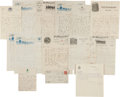 Autographs:Letters, 1907-20 George Stallings Signed Letters Lot of 12....