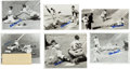 Baseball Collectibles:Photos, Stan Musial Signed Original Press Photographs Lot of 13....