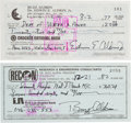 Autographs:Celebrities, Buzz Aldrin Personal Checks (Two) Signed with Different SignatureForms. ... (Total: 2 Items)