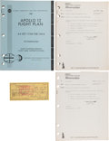 Explorers:Space Exploration, Apollo 12: Final Apollo 12 Flight Plan AS-507/ CSM-108/ LM-6 Book with Revisions A and B, and a Personal Check Sig... (Total: 4 Items)