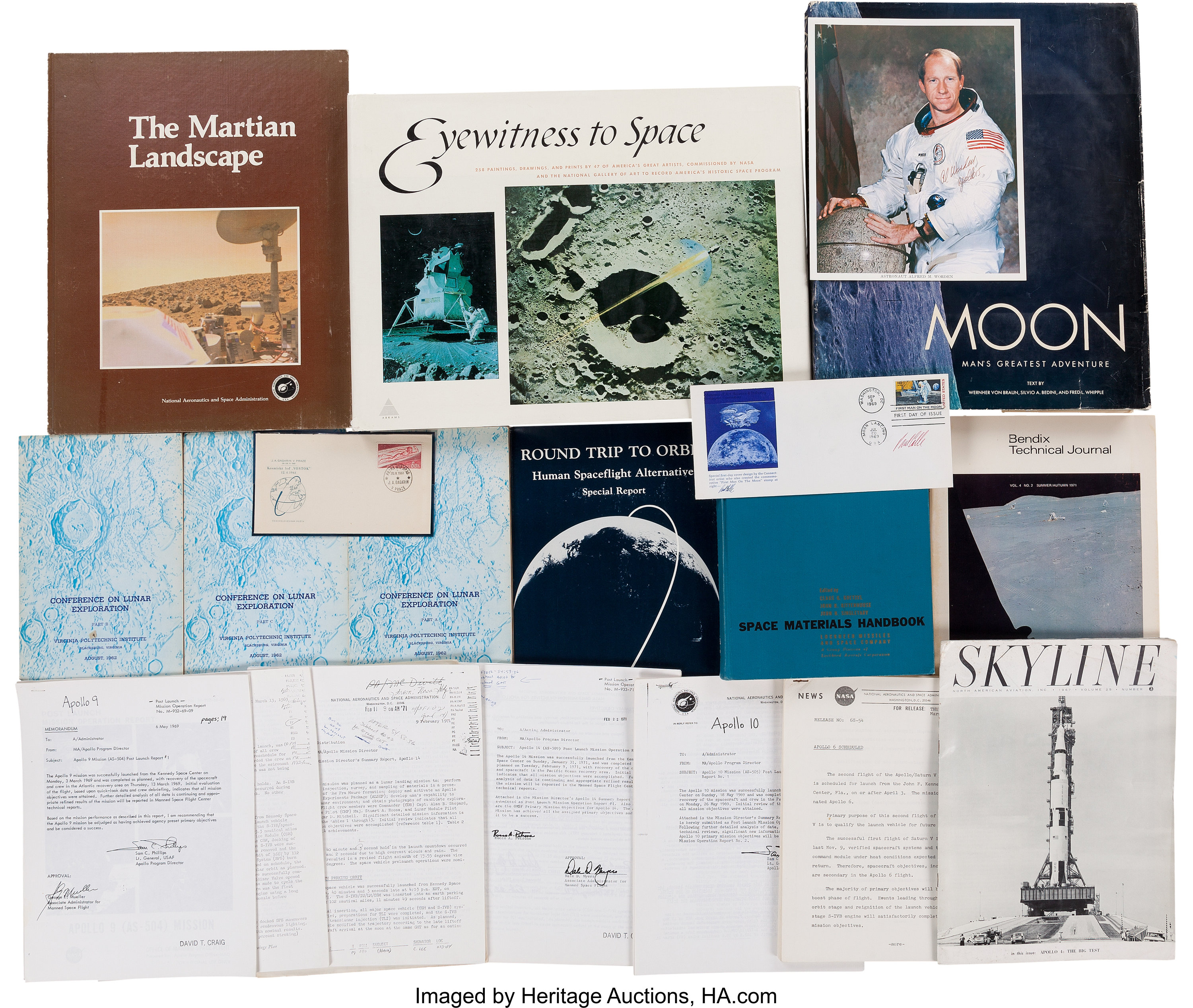 Space-Related Books, Periodicals, Autographs, Covers, and