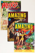 Golden Age (1938-1955):Science Fiction, Golden Age Sci-Fi Comics Group (Ziff-Davis, 1950s) Condition:Average VG/FN.... (Total: 3 Comic Books)