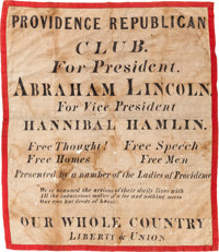 Abraham Lincoln: Awesome 1860 Campaign Parade Banner