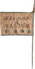 Political:Textile Display (pre-1896), John C. Frémont: Homemade Campaign Flag on Staff....