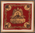 Political:Textile Display (pre-1896), Andrew Johnson: Fantastic End-of-War Bandanna....