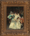 Fine Art - Painting, European:Other , PIO RICCI (Italian, 1850-1919). The Proposal. Oil on canvas.20 x 15 inches (50.8 x 38.1 cm). Signed lower left: Pio R...