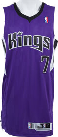 Basketball Collectibles:Uniforms, 2011-12 Jimmer Fredette Game Worn Sacramento Kings Jersey - Rookie....
