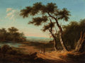 Fine Art - Painting, European:Antique  (Pre 1900), PATRICK NASMYTH (British, 1787-1831). Figures on a SunlitCountry Road, 1821. Oil on panel. 7-7/8 x 10-3/4 inches (20.0...