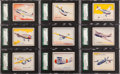 "Non-Sport Cards:Sets, 1930s R47 Shelby Gum ""Fighting Planes"" Complete Set (24) - #1 onthe SGC Set Registry!..."
