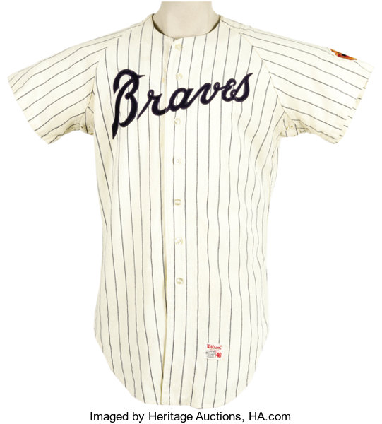 cheap for discount 503ac ced55 1968 Dusty Baker Game Worn Rookie Jersey. Home white ...