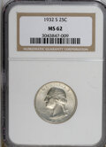 Washington Quarters: , 1932-S 25C MS62 NGC. NGC Census: (373/969). PCGS Population(396/1717). Mintage: 408,000. Numismedia Wsl. Price for NGC/PCG...