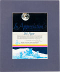 Explorers:Space Exploration, Jim Irwin Signed High Flight Foundation Support AppreciationCertificate Directly from the Personal Collection of AstronautWi...