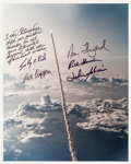 Autographs:Celebrities, Space Shuttle Challenger (STS-7) Crew-Signed Color Photo....