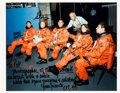 Autographs:Celebrities, Space Shuttle Discovery (STS-33) Crew-Signed Color Photo....