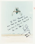 "Autographs:Celebrities, Neil Armstrong Signed Original NASA ""Red Number"" Color Photo...."