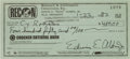 Autographs:Celebrities, Buzz Aldrin 1982 Personal Check Signed. ...