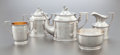 Silver Holloware, American:Coffee Pots, A FOUR PIECE SHREVE, BROWN & CO. SILVER COFFEE SERVICE ANDTWO-HANDLED CUP. Shreve, Brown & Co., Boston, Massachusetts,circ... (Total: 5 )