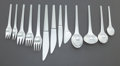 Silver Flatware, Continental:Flatware, AN EIGHTY PIECE GEORG JENSEN DANISH CARAVEL PATTERN SILVERFLATWARE SERVICE FOR SIX. Georg Jensen, Inc., Copenha... (Total: 80Items)