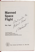 Explorers:Space Exploration, Maxime Faget: Manned Space Flight Book Signed [and] EdwardHymoff: Guidance and Control of Spacecraft ... (Total: 2Items)
