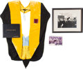 Explorers:Space Exploration, Ed White II: His University of Michigan Ceremony-Worn DoctoralHood, His Doctoral Degree Citation, and Six Mustard Seeds Flown...(Total: 5 Items)