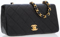 Luxury Accessories:Bags, Chanel Black Quilted Manbskin Leather Small Single Flap Bag withGold Hardware. ...
