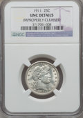 Barber Quarters: , 1911 25C -- Improperly Cleaned -- NGC Details. UNC. NGC Census: (0/198). PCGS Population (1/282). Mintage: 3,720,543. Numis...
