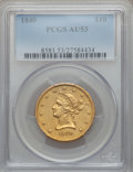 Liberty Eagles, 1840 $10 AU53 PCGS....
