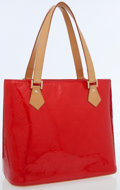 Luxury Accessories:Bags, Louis Vuitton Red Monogram Vernis Leather Houston Shoulder Bag. ...