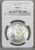 Morgan Dollars: , 1883-CC $1 MS63 NGC. NGC Census: (4631/12023). PCGS Population(9332/23663). Mintage: 1,204,000. Numismedia Wsl. Price for ...