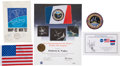 Explorers:Space Exploration, Space Shuttle and Mir-Flown Banner, Flags, and Patch, 1992-1998....(Total: 4 Items)
