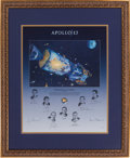 "Autographs:Celebrities, Alan Bean Large Limited Edition ""Houston, We Have a Problem""Lithograph Signed by Bean, the Surviving Apollo 13 Crew, and the..."