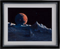 "Explorers:Space Exploration, Frank Lurz Original Signed 1994 Painting Titled ""Rhapsody""...."