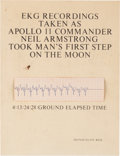 """Explorers:Space Exploration, Neil Armstrong EKG Strip, Recorded as He Made that Legendary """"Giant Leap for Mankind"""" on the Moon, Mounted on a Presentation C..."""