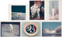 """Apollo Collection of Eighteen Original NASA Color Glossy Photos, All with """"Red Numbers."""""""