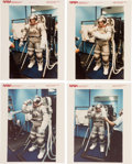 Explorers:Space Exploration, NASA Zero Pre-Breathe Spacesuit Test by Astronaut Jerry Ross: Original NASA Color Photos....