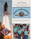 Explorers:Space Exploration, Space Shuttle Columbia (STS-40) Flown Spacelab Flag onPresentation Certificate. ...