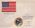 Explorers:Space Exploration, Apollo-Soyuz Test Project Flown American Flag on Crew-SignedCertificate. ...