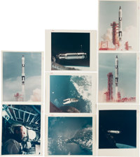 Gemini 8, Gemini 9A, and Gemini 10 Collection of Twenty-Two Original NASA Color Glossy Photos Including Nineteen with &q...