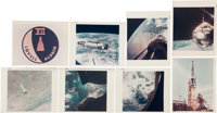"""Gemini 12 Collection of Nineteen Original NASA Color Glossy Photos Including Eighteen with """"Red Numbers."""""""