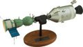 Explorers:Space Exploration, Apollo-Soyuz Test Project Rockwell Contractor's Model on Base. ...