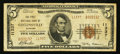 National Bank Notes:Alabama, Collinsville, AL - $5 1929 Ty. 2 The First NB Ch. # 11337. ...