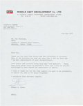 Autographs:Celebrities, Stuart Roosa Typed Letter Signed. ...